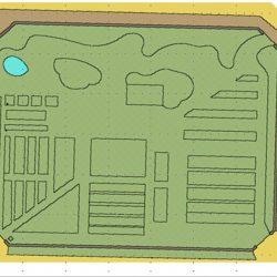 Plan du potager dans les murs